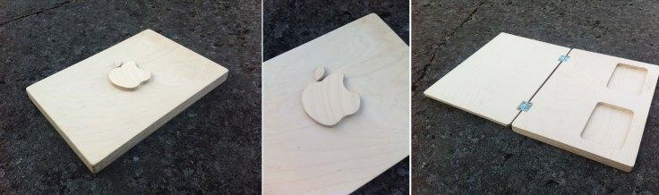 mac on wood