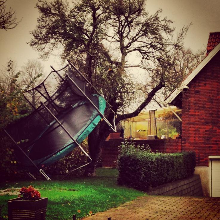 Neighbours trampoline
