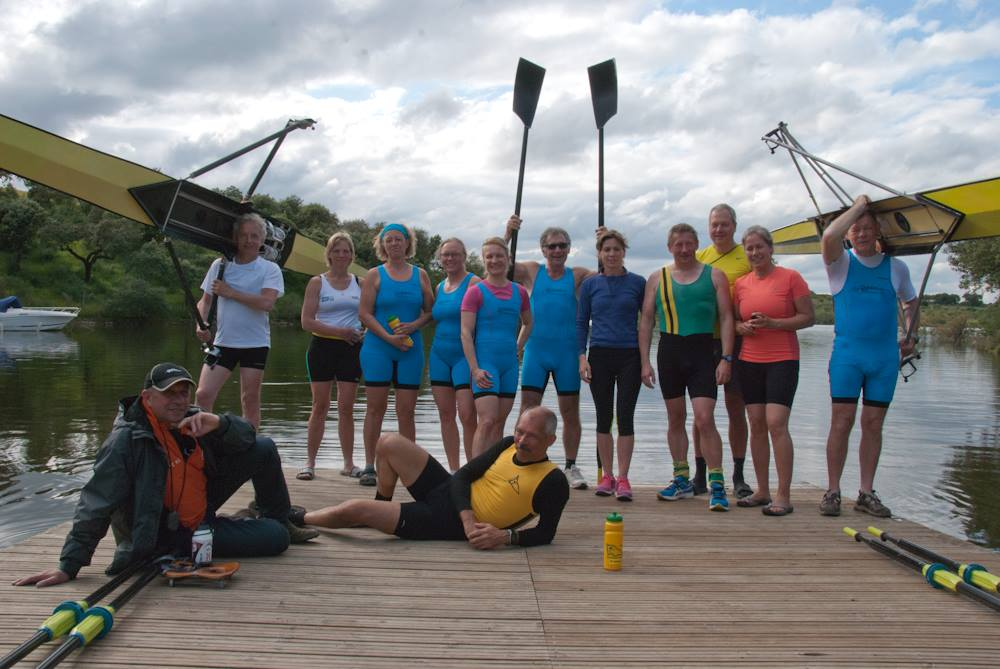 Sculling camp team
